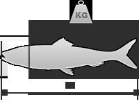 30 cm / 0,5 kg (evisc) / 0,2 kg (sen cab)