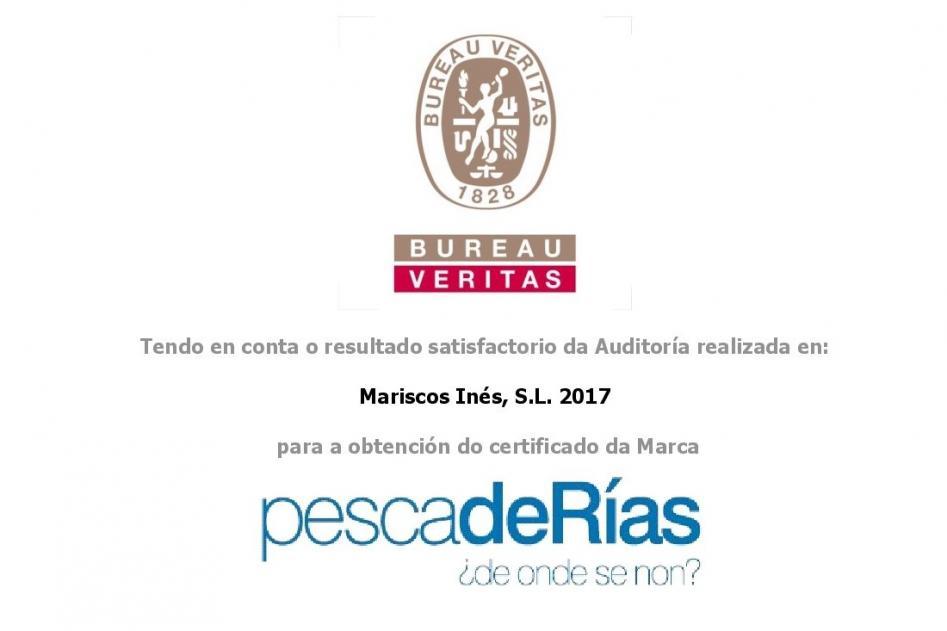 Mariscos Inés, novo axente certificado