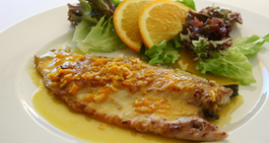 Filetes de Linguado con laranxa
