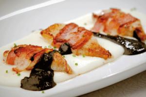 Atadiños de choco pescadeRías con crema de pataca